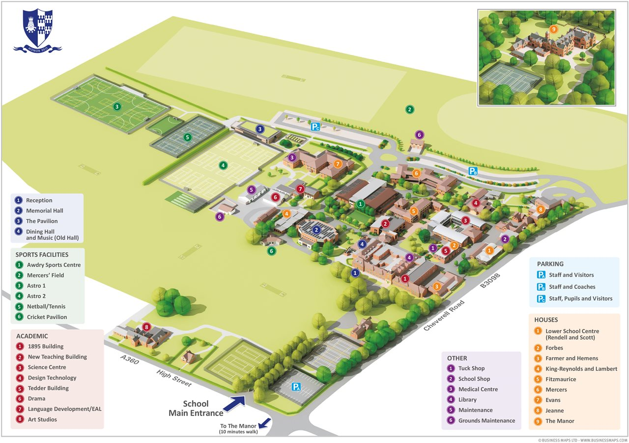 Dauntsey's School Map